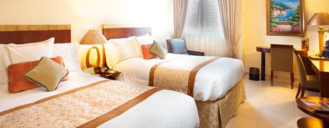 Habitacion doble con camas queen en hotel en ciudad panam for Hoteles con habitaciones dobles comunicadas